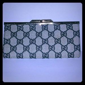 Vintage Gucci Monogram GG Wallet, Coin Purse